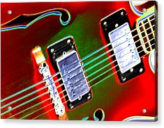 Electric Guitar Acrylic Print by Peter  McIntosh