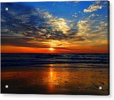 Electric Golden Ocean Sunrise Acrylic Print