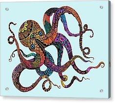 Electric Octopus - Customizable Background Acrylic Print by Tammy Wetzel