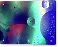Acrylic Print featuring the photograph Electric Oil Droplets Number One by John Williams
