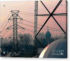 Electric Onion Domes Acrylic Print by Donna Stewart