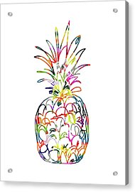 Electric Pineapple - Art By Linda Woods Acrylic Print by Linda Woods