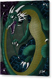 Electric Portal Dragon Acrylic Print
