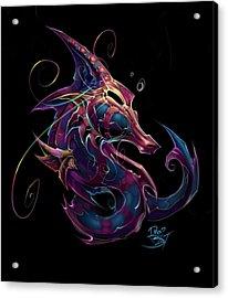 Electric Seahorse Acrylic Print by David Bollt