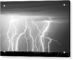 Electric Skies In Black And White Acrylic Print