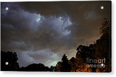 Electric Sky Of Faces Acrylic Print