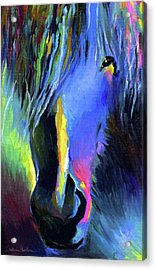 electric Stallion horse painting Acrylic Print by Svetlana Novikova