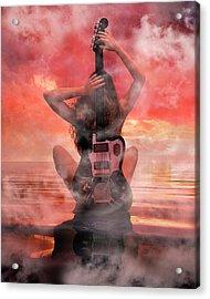 Electric Sunset Acrylic Print