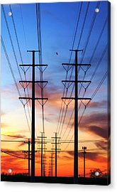 Electric Sunset Acrylic Print by James Granberry