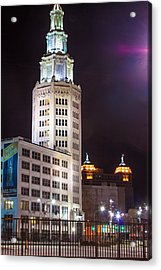 Acrylic Print featuring the photograph Electric Tower From Behind  by Don Nieman