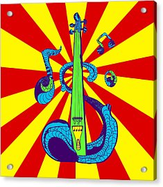 Electric Violin Pop Art Acrylic Print by Kenal Louis