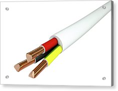 Electrical Cable Acrylic Print by Allan Swart