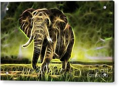 Electricity Acrylic Print by Marvin Blaine