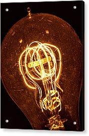 Electricity Through Tungsten Acrylic Print