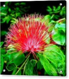 Electrified Neon Red Fan Acrylic Print