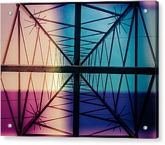 Electromagnetic Fields Acrylic Print by Cesare Bargiggia