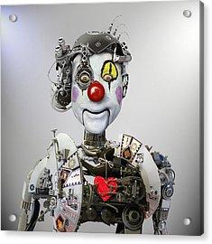 Electronic Clown Acrylic Print by Ddiarte
