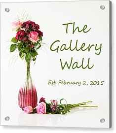 Acrylic Print featuring the photograph Elegance-the Gallery Wall Logo by Wendy Wilton