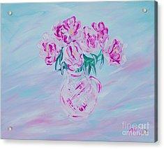 Elegant Bouquet Of Peonies. Joyful Gift. Thank You Collection Acrylic Print