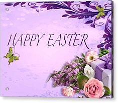 Elegant Easter Card Acrylic Print by Debra     Vatalaro