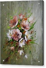 Elegant Flowers Acrylic Print by David Jansen