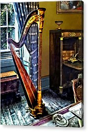 Elegant Harp Acrylic Print by Susan Savad