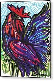 Elegant Rooster Acrylic Print