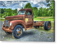 Elegant Rust 1947 International Harvester K B 5 Truck Acrylic Print by Reid Callaway
