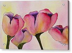 Elegant Tulips  Acrylic Print by Mary Gaines