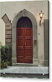 Acrylic Print featuring the photograph Elegant Tuscan Door by Michael Flood
