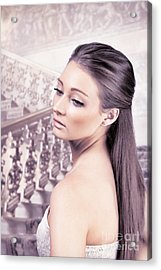 Elegant Woman Acrylic Print by Amanda Elwell