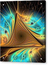 Acrylic Print featuring the digital art Element by Anastasiya Malakhova