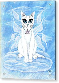 Elemental Air Fairy Cat Acrylic Print