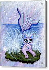 Elemental Water Mermaid Cat Acrylic Print