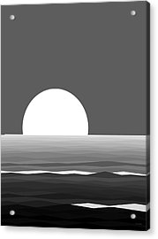 Elements - Black And White Water Acrylic Print