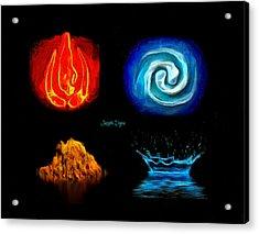 Elements - Da Acrylic Print by Leonardo Digenio
