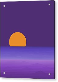 Elements - Lavender Sea - Purple Acrylic Print by Val Arie