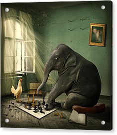 Acrylic Print featuring the photograph Elephant Chess by Ethiriel  Photography