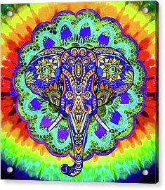 Elephant Head Wall Art Acrylic Print