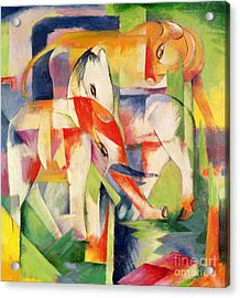 Elephant Horse And Cow Acrylic Print by Franz Marc