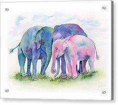 Elephant Hug Acrylic Print
