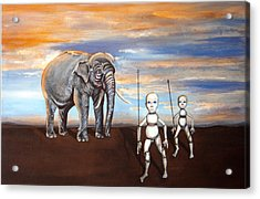Elephant King Acrylic Print by Chris Benice