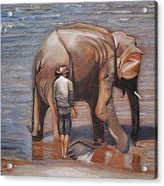 Elephant Man Acrylic Print by Keith Bagg