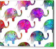 Elephant Parade - Children Pattern Acrylic Print