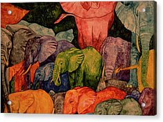 Elephant Party Acrylic Print