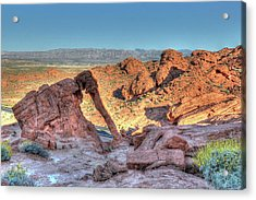 Elephant Rock - Hdr - Valley Of Fire Acrylic Print by Don Mennig