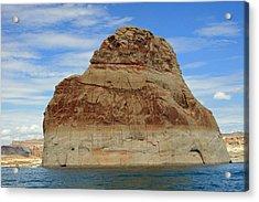 Elephant Rock Lake Powell Acrylic Print by Chuck Wedemeier