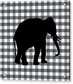 Elephant Silhouette Acrylic Print by Linda Woods