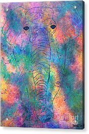 Acrylic Print featuring the painting Elephant Spirit by Denise Tomasura