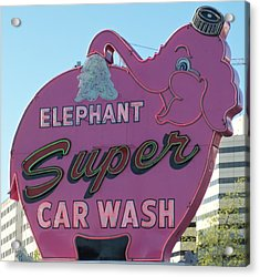 Elephant Super Car Wash Acrylic Print